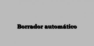 Borrador automático