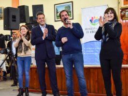 Ariel Sujarchuk, Sergio Massa y Mirta Tundis compartieron una mañana con 400 adultos mayores de distintos centros de jubilados de Escobar
