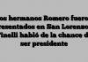 Los hermanos Romero fueron presentados en San Lorenzo y Tinelli habló de la chance de ser presidente