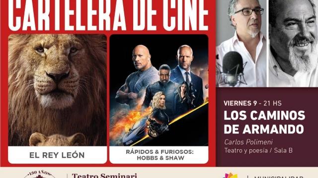 Cartelera de viernes en el Teatro Seminari Cine Italia