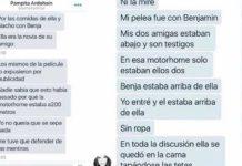 Filtran chats sobre la reacción de Pampita la noche del episodio del motorhome